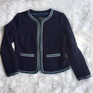 Talbots Braided Trim Blazer Jacket Career Piece